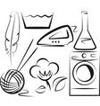 washing items set vector image vector image
