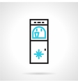 Water refrigerator black and blue line icon vector image