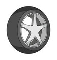 wheel with a tire cover for the carcar single vector image