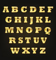 golden alphabet letters vector image