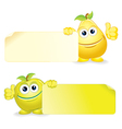 Pear with Apple with Sign vector image