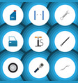 flat icon service set of automobile part coupler vector image