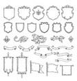 armed medieval vintage shields vector image