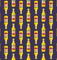 pop art beer bottle seamless pattern vector image