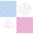 Set of design elenments of baby theme vector image