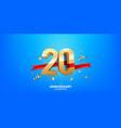 20th anniversary celebration vector image