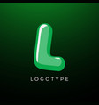 3d playful letter l kids and joy style symbol vector image vector image