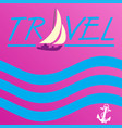 background sea yacht vector image vector image
