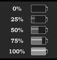 battery power levels vector image vector image