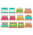 bed icon in flat design vector image