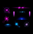 blue light effects icon set vector image