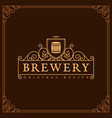 brewery label vector image vector image