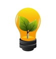 bulb ecology plant growing vector image