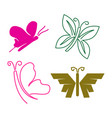 butterfly line simple logo design icon set vector image vector image