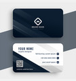 clean simple business card template modern design vector image vector image