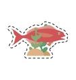 cod fish sealife food ocean coral vector image vector image