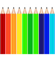 Color pencils background vector image vector image