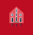 cool detailed house icon isolated on white vector image vector image