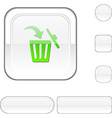 Delete white button vector image vector image
