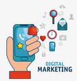 digital marketing technology icon vector image vector image