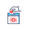 donation - modern line design single icon vector image vector image