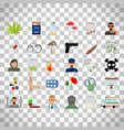 drugs and addiction flat icons vector image vector image