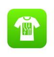 electronic t-shirt icon digital green vector image vector image
