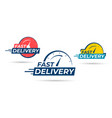 fast delivery icon or sign with chronometer vector image