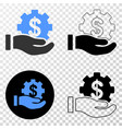 financial service offer hand eps icon with vector image