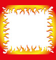flame frame vector image vector image