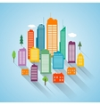 Flat building design cityscape background vector image vector image