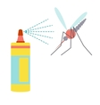 Flat design icon of repellent and mosquito vector image