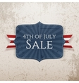 fourth july sale realistic tag vector image vector image