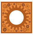 frame with steampunk gears on a white background vector image vector image