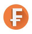 Franc symbol vector image vector image