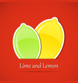 Fruit label Lemon vector image vector image