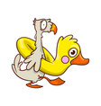 funny tropical bird with inflatable rubber in vector image vector image