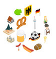germany isometric 3d icons vector image vector image