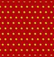 golden dots on red color abstract background vector image