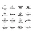 Greeting cards design isolated logos typography