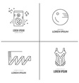Gymnastics Logotypes vector image vector image