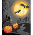 halloween at night vector image