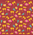 happy birthday seamless background pattern vector image vector image