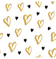 heart symbol seamless pattern hand drawn sketch vector image vector image