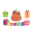 holiday present gift box pile of colorful vector image