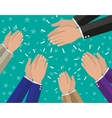 Human hands clapping applaud vector image