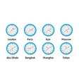 illlustration of time zone wall clocks vector image