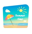 Image of summer time vector image vector image