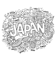 Japan hand lettering and doodles elements vector image vector image