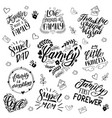 Lettering and calligraphy quotes about family